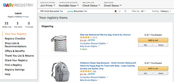 8 Tips To Make Your Amazon Baby Registry Awesome The Organized Mom Life