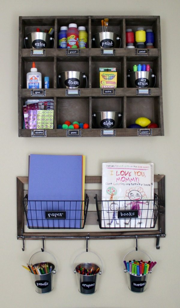 Organize And Kids Art Supplies