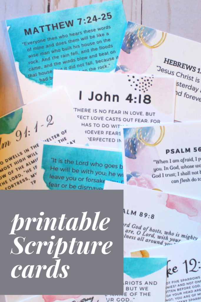 Stress Scripture Cards Scripture Memory Cards on Parenting Bible Verse Cards. Memory Cards Worry Money