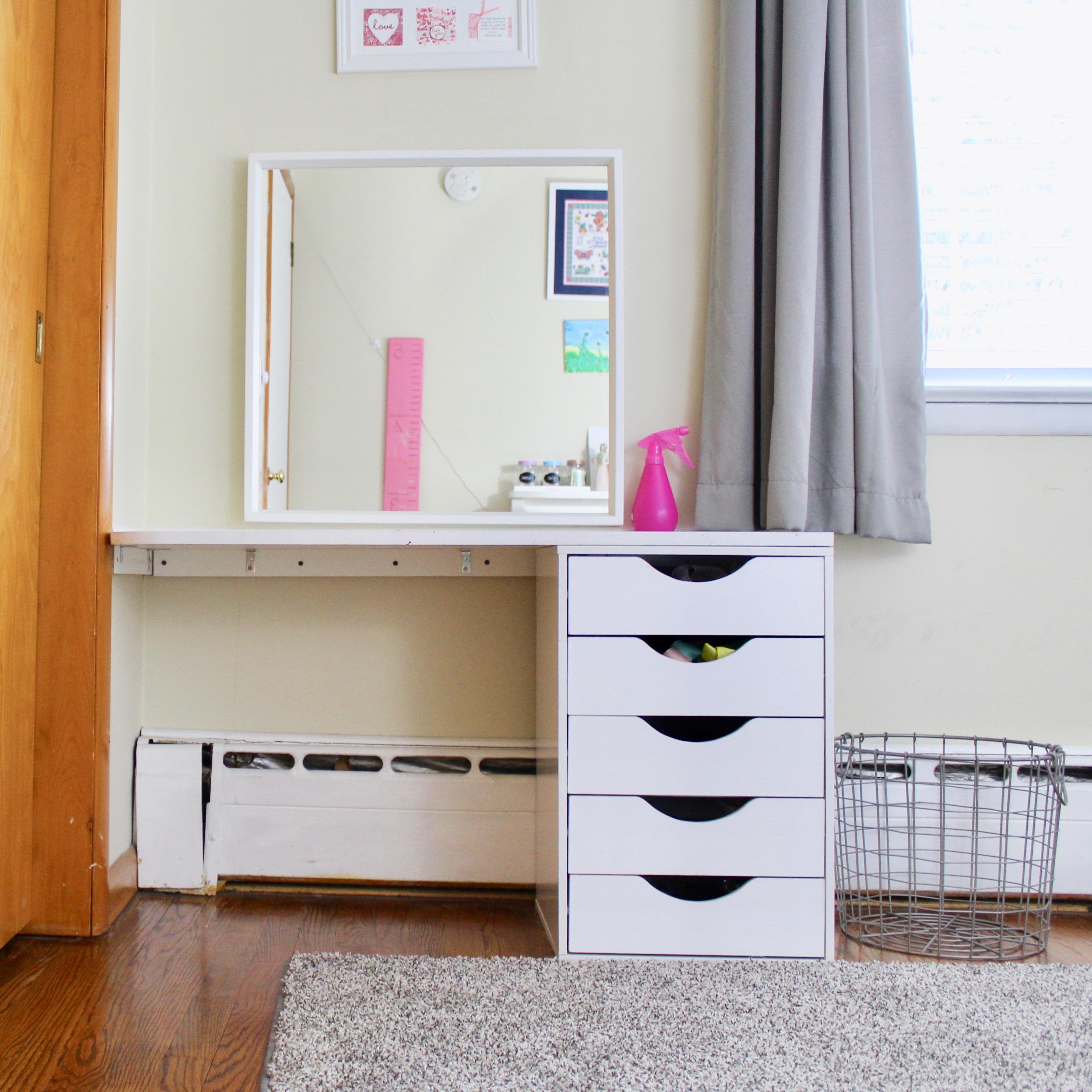 Diy Vanity Girls Bedroom The Organized Mom Life